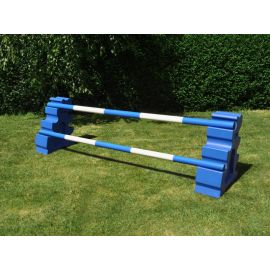 Beginner Jump Set - 1 FenceBeginner Jump Set - 1 Fence - Blue Uprights with matching poles