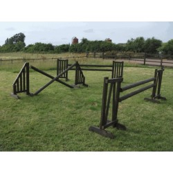 Show Jumps - Working Hunter - SET OF 5 - 5ft Stands,5ft & 4ft Wings,Plank Filler,10ft Poles + Cups