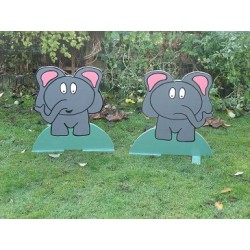 Pair of Spooky Elephant fillers
