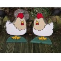 Pair of Spooky Chicken fillers