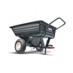 Convertible Push/Tow Poly Dump Trailer