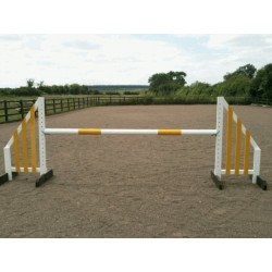Show Jumps - Set C - 4ft Wings, 8ft Pole + Cups (Rustic or Painted Options)