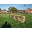 """2 in 1 Tiger Cage Cross Country Jump - 1ft 9"""" - 2ft x 8ft"""