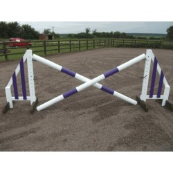 Show Jumps - Set B - 5ft Wings, 8ft Poles + Cups (Rustic or Painted Options)