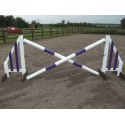 Show Jumps - Set B - 5ft Wings, 8ft Poles + Cups - Rustic
