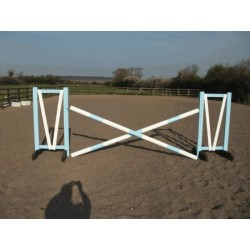Show Jumps - Set A - 4ft Wings, 8ft Poles + Cups (Rustic or Painted Options)