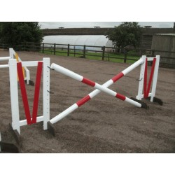 Show Jumps - Set D - 5ft Wings, 10ft Poles + Cups (Rustic or Painted Options)