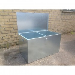 Low Double 2 compartment Feed Bin