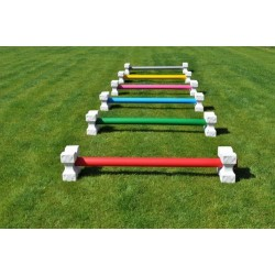 Set of 12 Plastic Cavaletti Blocks and 6 Poles (Plastic with Wood Core) (1.75m)