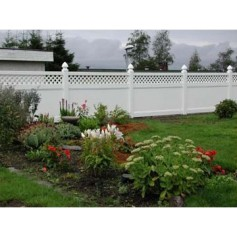 8ft Wide x 8ft High with Lattice - Vinyl Fencing