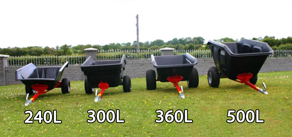 360L tipping trailer
